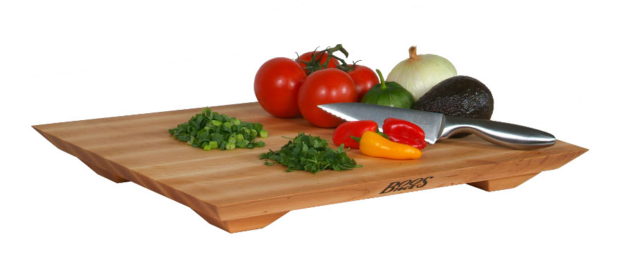 "John Boos Inch-Thick 20""x15"" Maple Fusion Cutting Board with Feet"